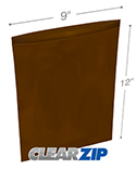 9 in x 12 in Amber 3 Mil Clearzip® Lock Top Reclosable Bags