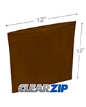 12 in x 12 in Amber 3 Mil Clearzip® Lock Top Reclosable Bags