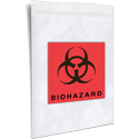 3 inx5 in Biohazard Zipper Locking Bags