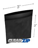 3 in x 3 in 2 mil Black Reclosable Poly Bags
