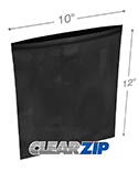 10 in x 12 in 2 mil Black Reclosable Poly Bags