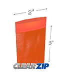 2 in x 3 in 2 mil Red Reclosable Poly Bags