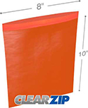 8 in x 10 in 2 mil Red Reclosable Poly Bags