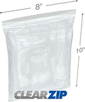 8 in x 10 in 4 mil reclosable poly bags