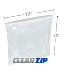12 in x 12 in 4 mil reclosable poly bags