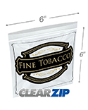 6 in x 6 in Fine Tobacco Zipper Lock Bags - 3 Mil