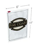 6.5 in x 10 in Fine Cigars Slider Lock Bags - 3 Mil
