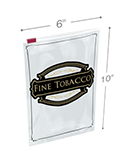 6.5 in x 10 in Fine Tobacco Slider Lock Bags - 4 Mil
