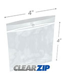 4 in x 4 in Hang Hole 2 Mil Clearzip® Lock Top Bags