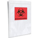 3 Wall 6 inx9 in Specimen Shield Biohazard Printed Bag