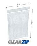 5 in x 8 in Tamper Evident 2 Mil Clearzip® Lock Top Reclosable Bags