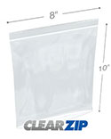 8 in x 10 in Tamper Evident 2 Mil Clearzip