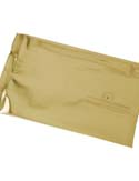 8 oz Flat Pouch with valve Gold PET / VMPET / LLDPE