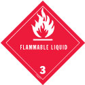 D.O.T. Flammable Liquid Label