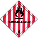 D.O.T. Flammable Solid Label