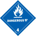 D.O.T. Dangerous When Wet Label