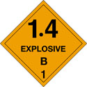 4 in x 4 in D.O.T. Explosives 1.4B HazMat Labels