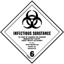 D.O.T. Infectious Substance Label