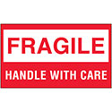 3 in x 5 in Fragile - Handle with Care Labels