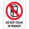 3 in x 4 in Do Not Stack in Transit Labels