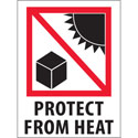 3 in x 4 in Protect from Heat Labels