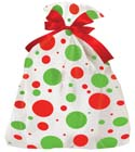 24 in x 6 in x 42 in Jumbo Holiday Shopping Bags - Dots