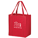 12 x 8 x 13 + 8 Red Color Evolution Custom Heavy Duty Grocery Tote