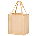 12 x 8 x 13 + 8 Tan Color Non Woven Grocery Shoppers Shoppers