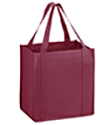 12 x 8 x 13 + 8 Burgundy Heavy Duty Grocery Tote