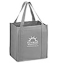 12 x 8 x 13 + 8 Screen Printed Gray Heavy Duty Grocery Tote