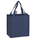 12 x 8 x 13 + 8 Navy Blue Heavy Duty Grocery Tote