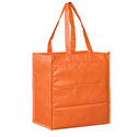 13 x 5 x 13 + 5 Halloween Orange Non Woven Grocery Tote Bag with Poly Board Insert