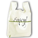 12 in x 9 in x 23 in 0.55 Mil Enjoy T-Shirt Bags
