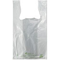 Earth Friendly 11.5 x 6.5 x 21 White T-Shirt Bags