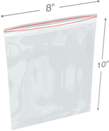 8 in x 10 in 6-Mil Reclosable Double Zip Poly Bags