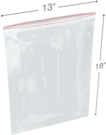 13 in x 18 6-Mil Reclosable Double Zip Poly Bags