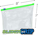8x7 2.7Mil 1-Quart Size SliderGrip Zipper Bags