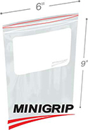 6 inx9 in 2-Mil Reclosable Poly Bag with Whiteblock