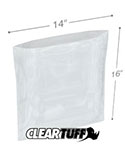 14 in x 16 in 1.25 Mil Poly Bags