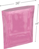 Pink 36 in x 48 in 4 mil Anti-Static Poly Bags