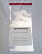 8 in x 17 in 5 Mil Plastic Coin Bags - Hopper Bags