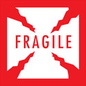 Fragile Labels - 4 in square with cracks