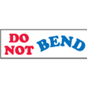 inDO NOT BEND in Label 1x3 - Red White and Blue