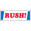 inRUSH! in Label 1x3 - Red White and Blue