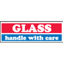 inGLASS - handle with care in 1x3 - Red White and Blue