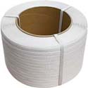 9 x 8 core 1/2 in x 9900' White Polypropylene Strapping 0.024 ga
