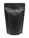 8 oz Stand Up Pouch with valve Matte Black MBOPP/PET/ALU/LLDPE