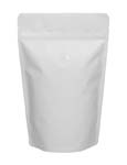 8 oz Stand Up Pouch with valve Matte White MBOPP/PET/ALU/LLDPE