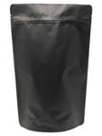 12 oz Stand Up Pouch Matte Black MBOPP/PET/ALU/LLDPE