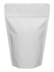 12 oz Stand Up Pouch Matte White MBOPP/PET/ALU/LLDPE